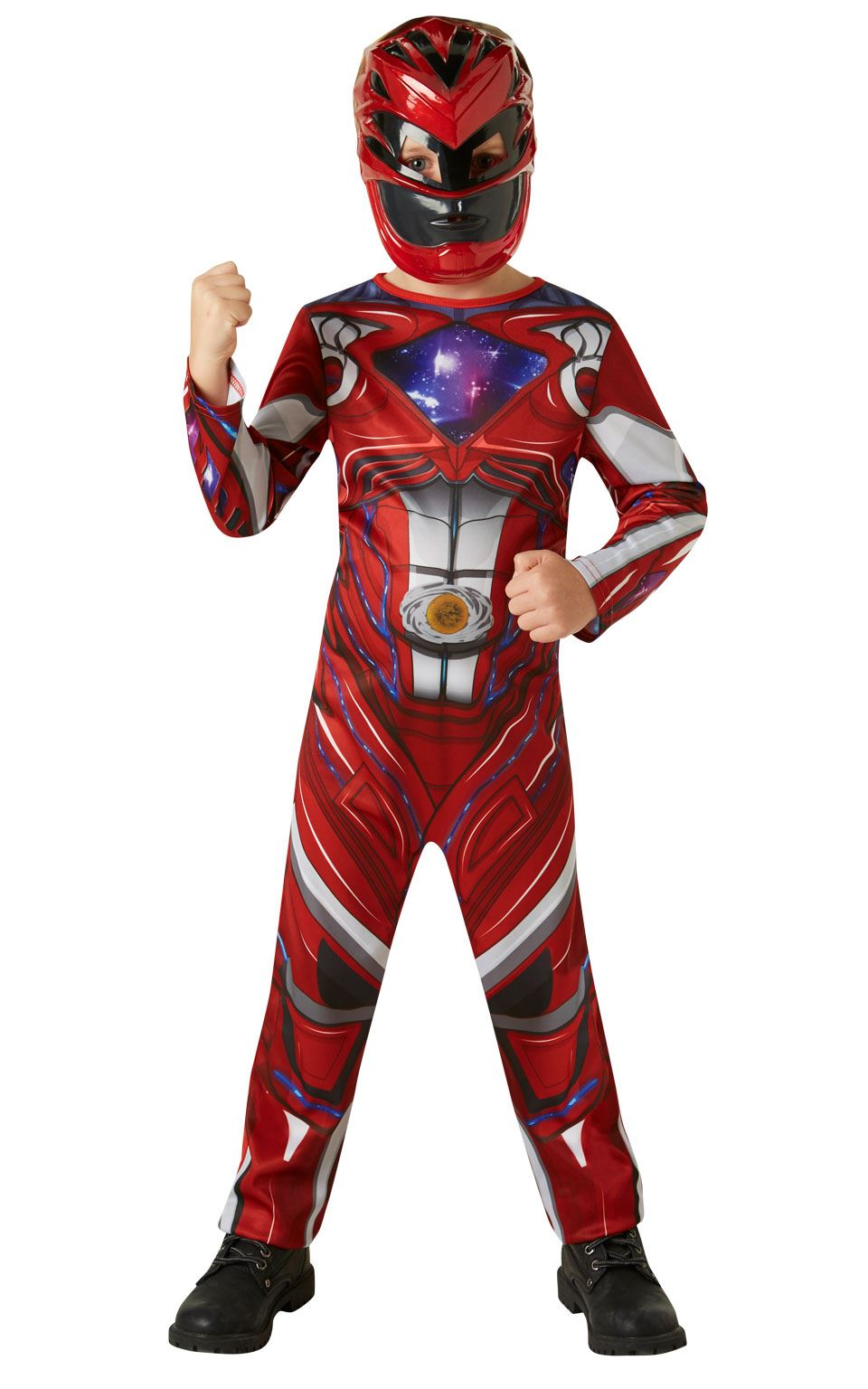Boys Power Rangers Movie Red Ranger Costume Child Fancy Dress Outfit | eBay