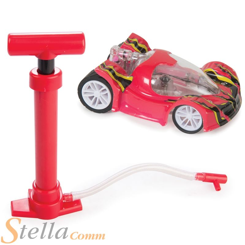 Air Racer Air Engine Powered Kids Toy Racing Car With Pump