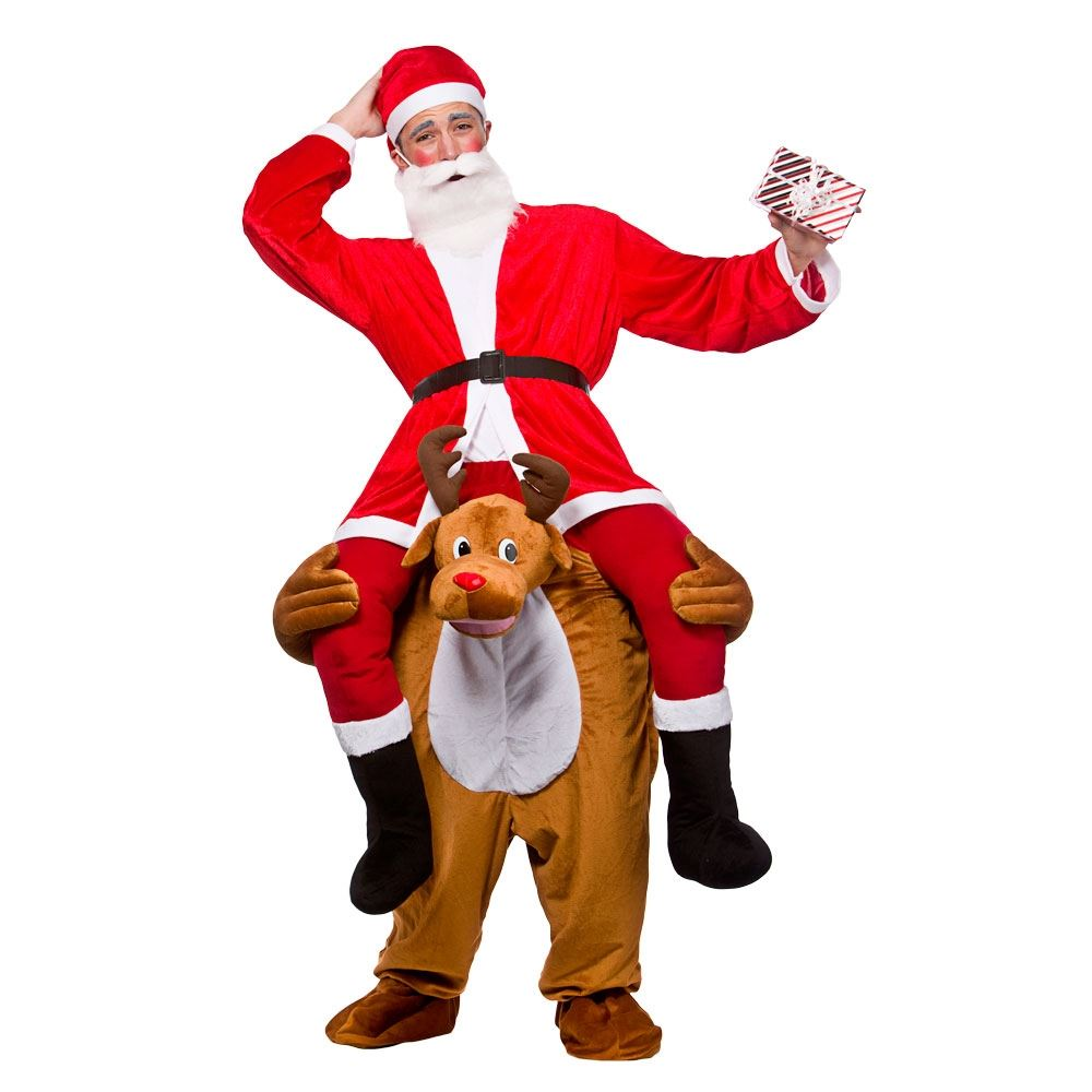 Christmas dress costume - Mens Adult Carry Me Novelty Ride On Mascot Christmas Fancy Dress Costume Outfit