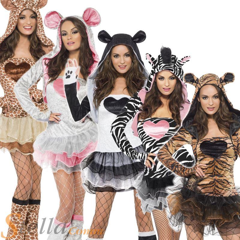 Women Fever Sexy Animal Jungle Zoo Safari Outfit Fancy Dress Costumes Size 4-18 | eBay