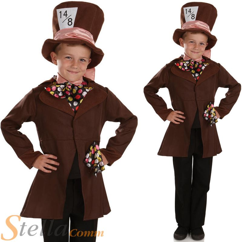 Boys Little Mad Hatter Costume Book Week Tea Party