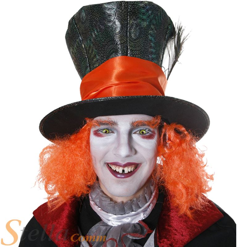 Electric Mad Hatter Orange Hat Pictures to pin on Pinterest