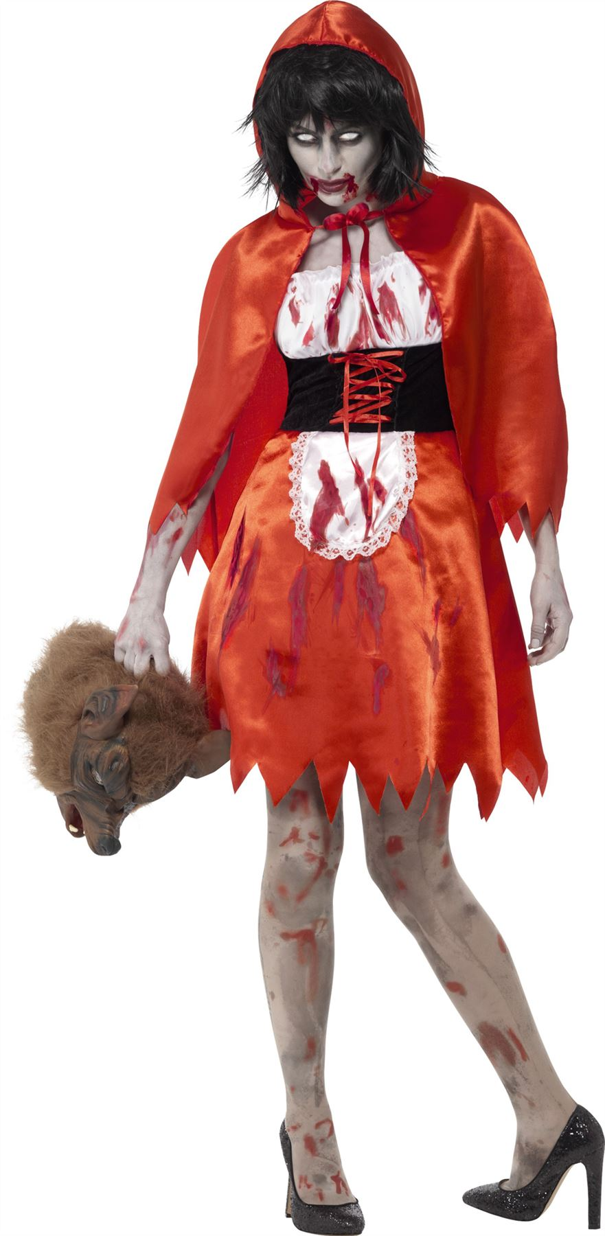 Red dress zombie outfit