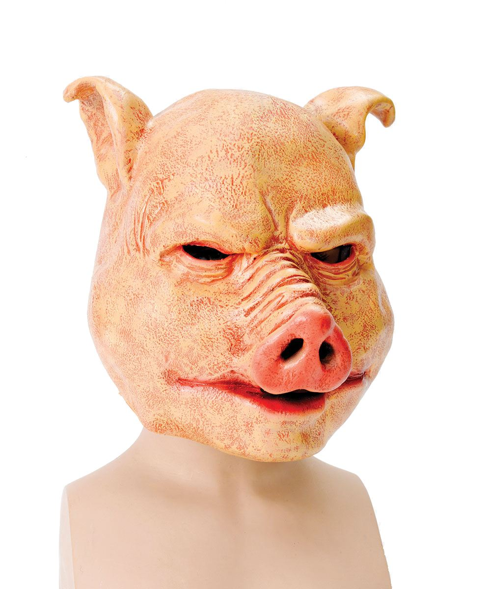 Deluxe Horror Latex Pig Mask Halloween Evil Scary Animal Fancy ...