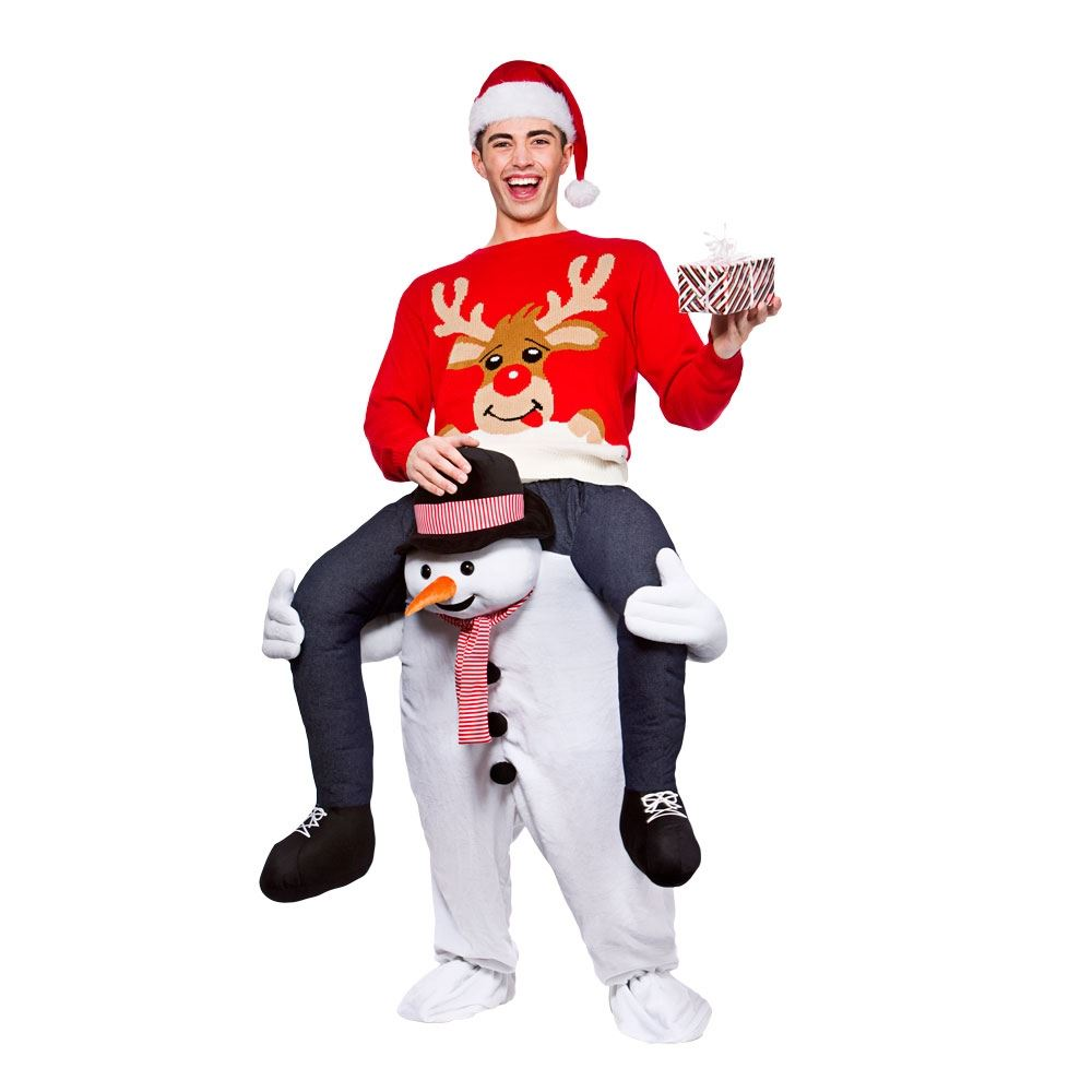 Christmas dress up - Mens Adult Carry Me Novelty Ride On Mascot Christmas Fancy Dress Costume Outfit