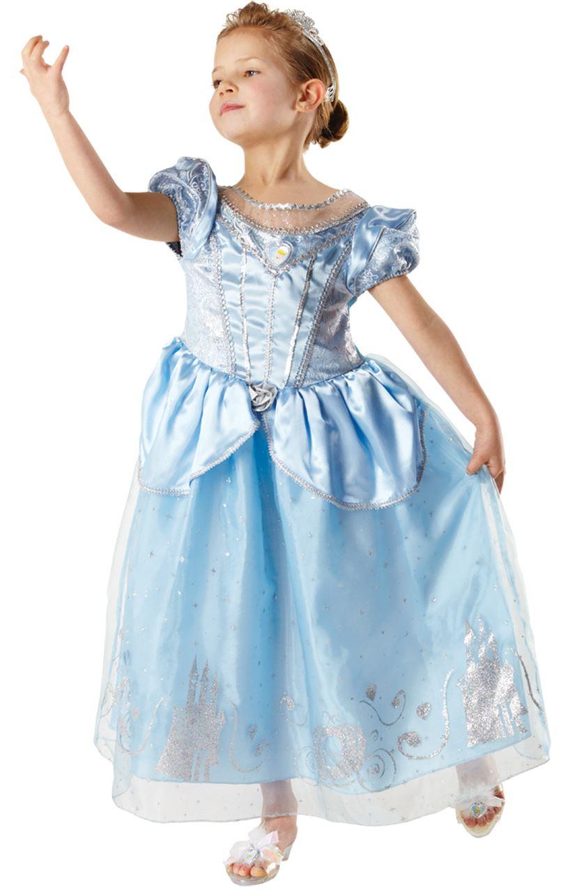 Girls-Disney-Princess-Anniversary-Cinderella-Deluxe-Kids-Fancy-Dress-Costume