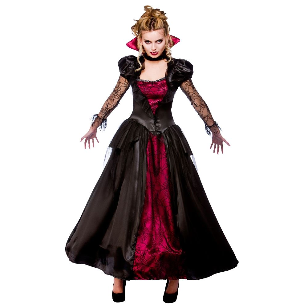 femmes gothique vampire reine dracula halloween d guisement costume pour tenue ebay. Black Bedroom Furniture Sets. Home Design Ideas