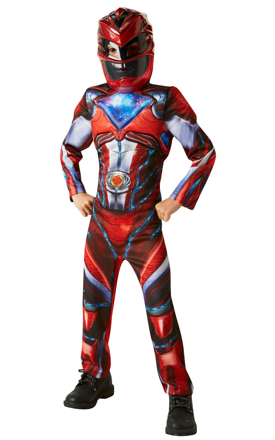 Boys Deluxe Power Rangers Movie Red Ranger Fancy Dress Child Kids Outfit | eBay