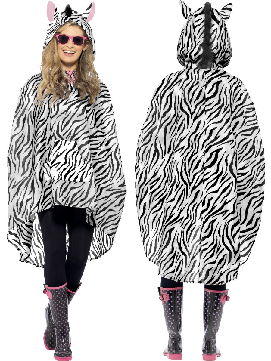 Ladies-Mens-Unisex-Animal-Ponchos-Showerproof-Festival-Adult-Fancy-Dress-Costume
