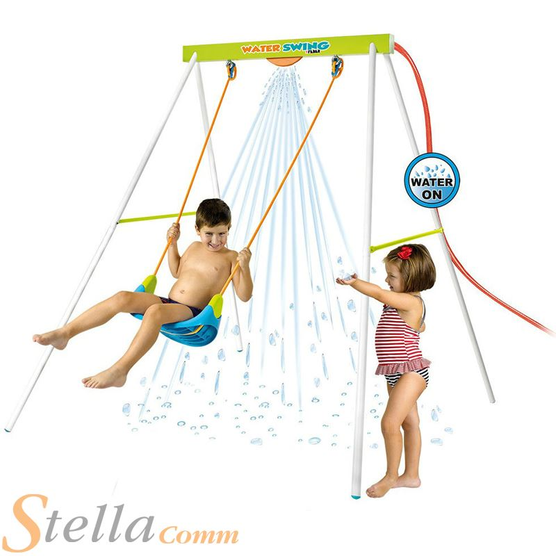 Childs water spray garden swing set waterfall summer for Waterfall swing set
