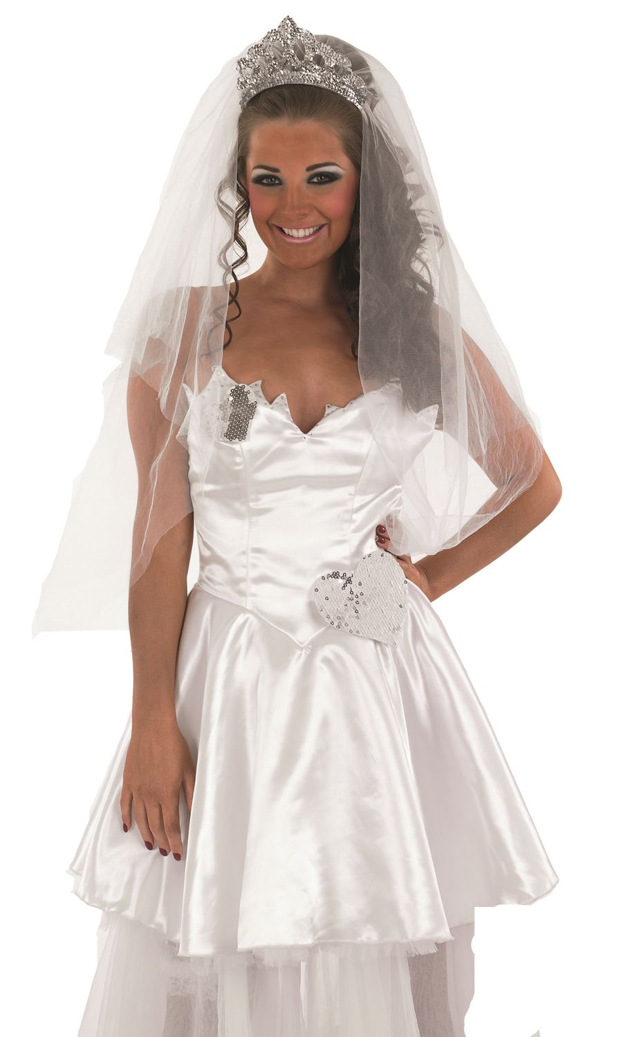 Adult bride costume tv big fat gypsy wedding fancy dress for Sell your wedding dress online for free