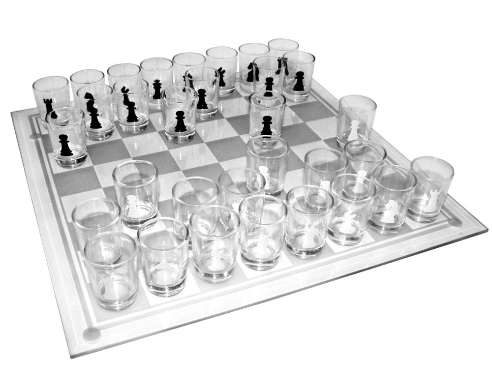 Shot Glass Chess Board Set Adult Drinking Hen Stag Party Game