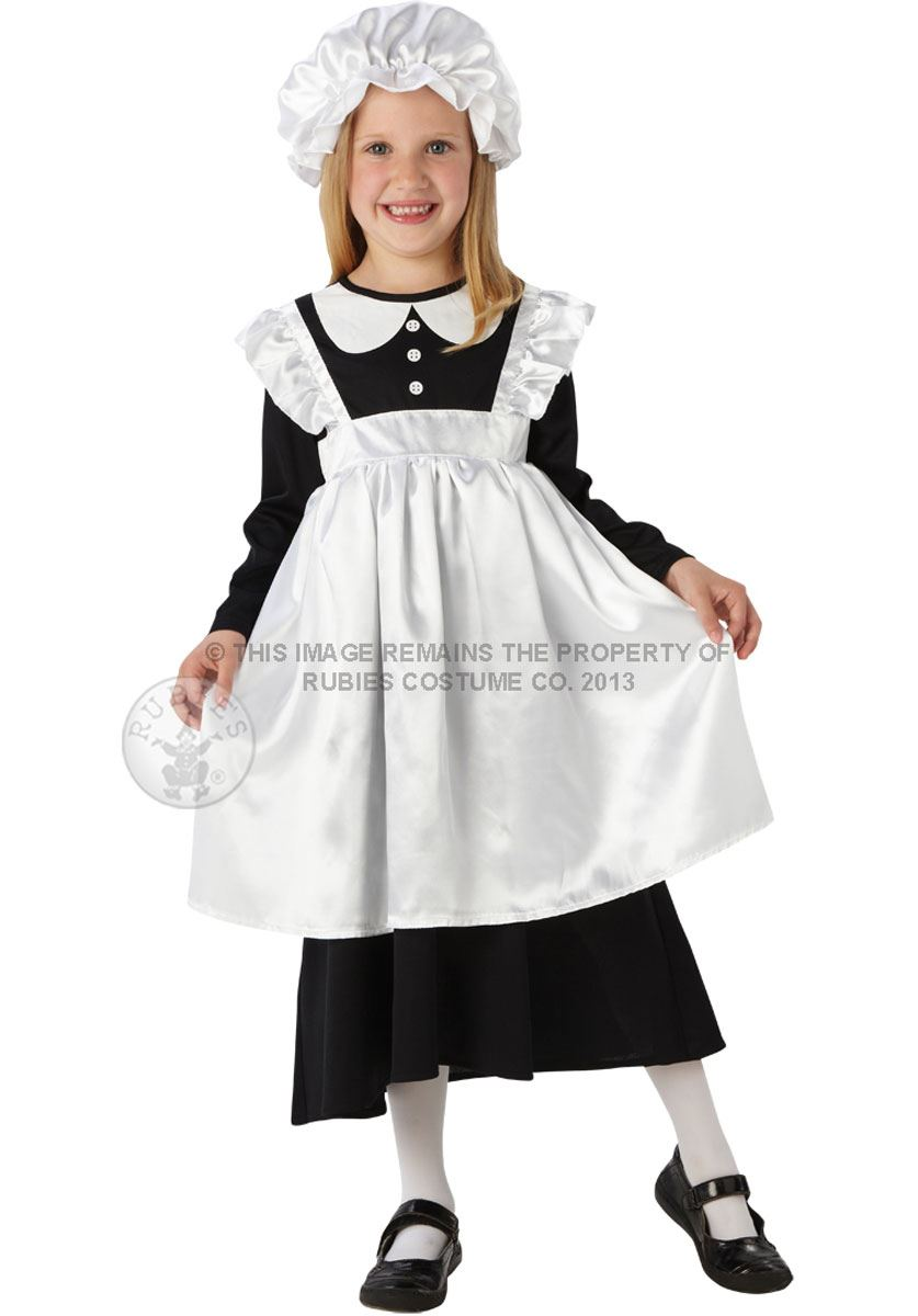 Girls-Victorian-Maid-Fancy-Dress-Costume-Book-Week-Tudor-Child-Edwardian-Outfit