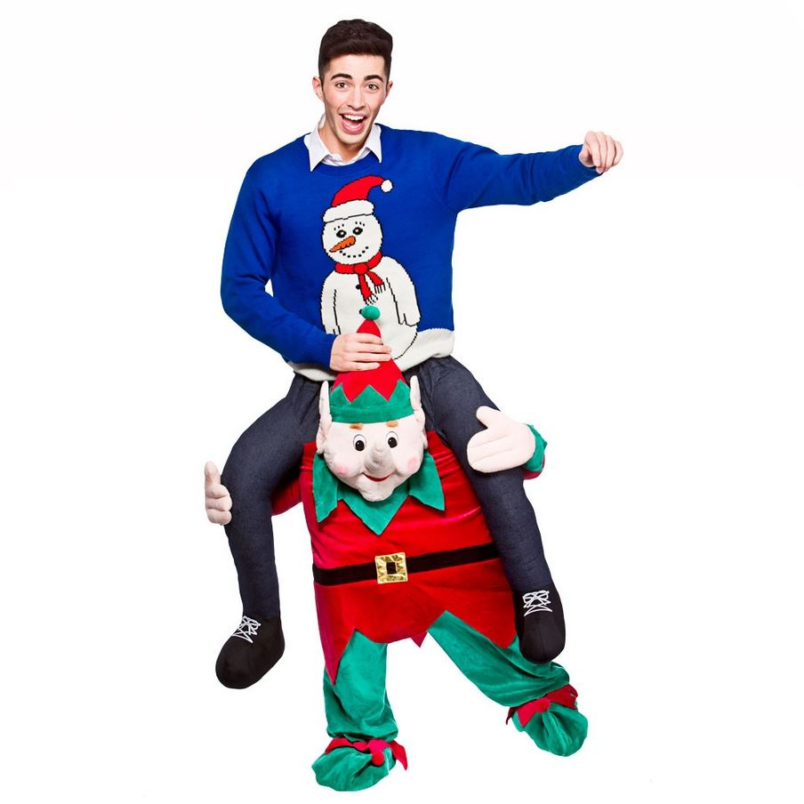 Mens Adult Carry Me Novelty Ride On Mascot Christmas Fancy Dress Costume Outfit EBay