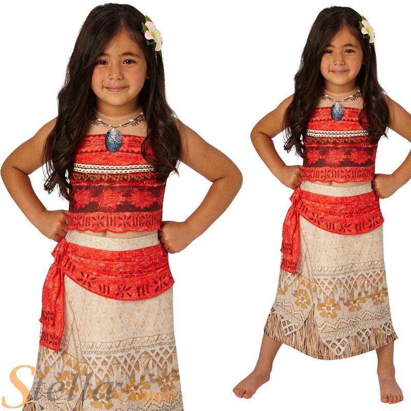 De Lujo Para Niñas Moana Disfraz Disney Hawaiian Princesa ...