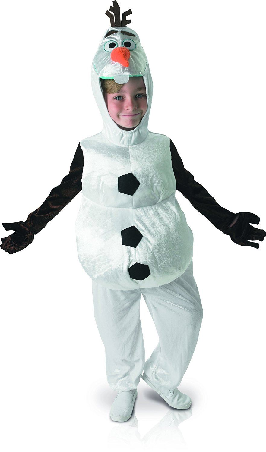 kids olaf frozen costume fancy dress disney snowman boys girls child outfit ebay. Black Bedroom Furniture Sets. Home Design Ideas