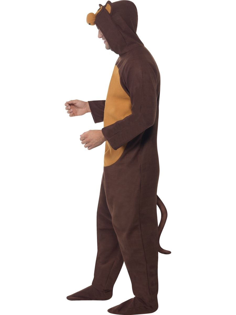 homme singe animal costume d guisement pyjama combinaison jungle chimpanz ebay. Black Bedroom Furniture Sets. Home Design Ideas
