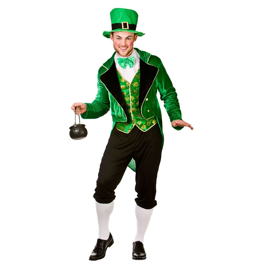 Mens Deluxe Leprechaun Irish St Patricks Day Fancy Dress