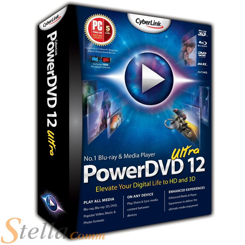 cyberlink powerdvd 12 ultra media lecteur dvd vid o logiciel pour pc ebay. Black Bedroom Furniture Sets. Home Design Ideas