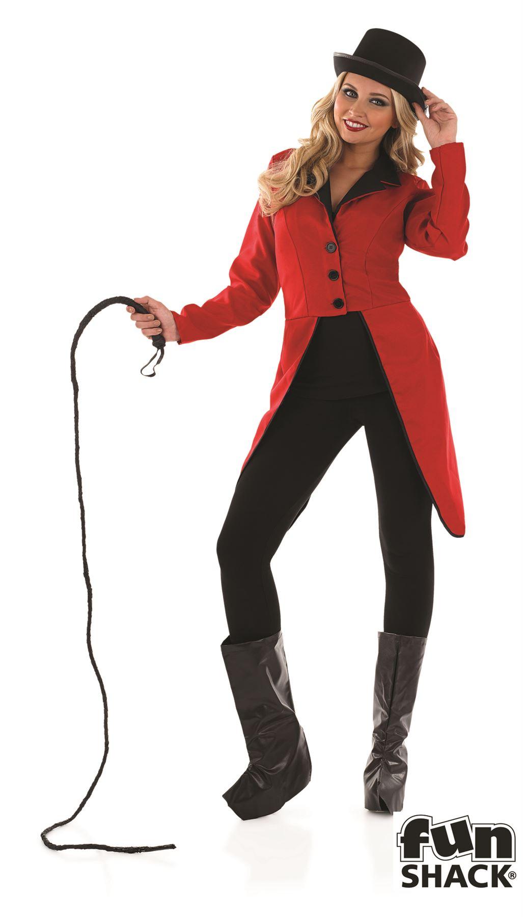 Maestro de ceremonias chaqueta lion tamer disfraz para mujer ebay