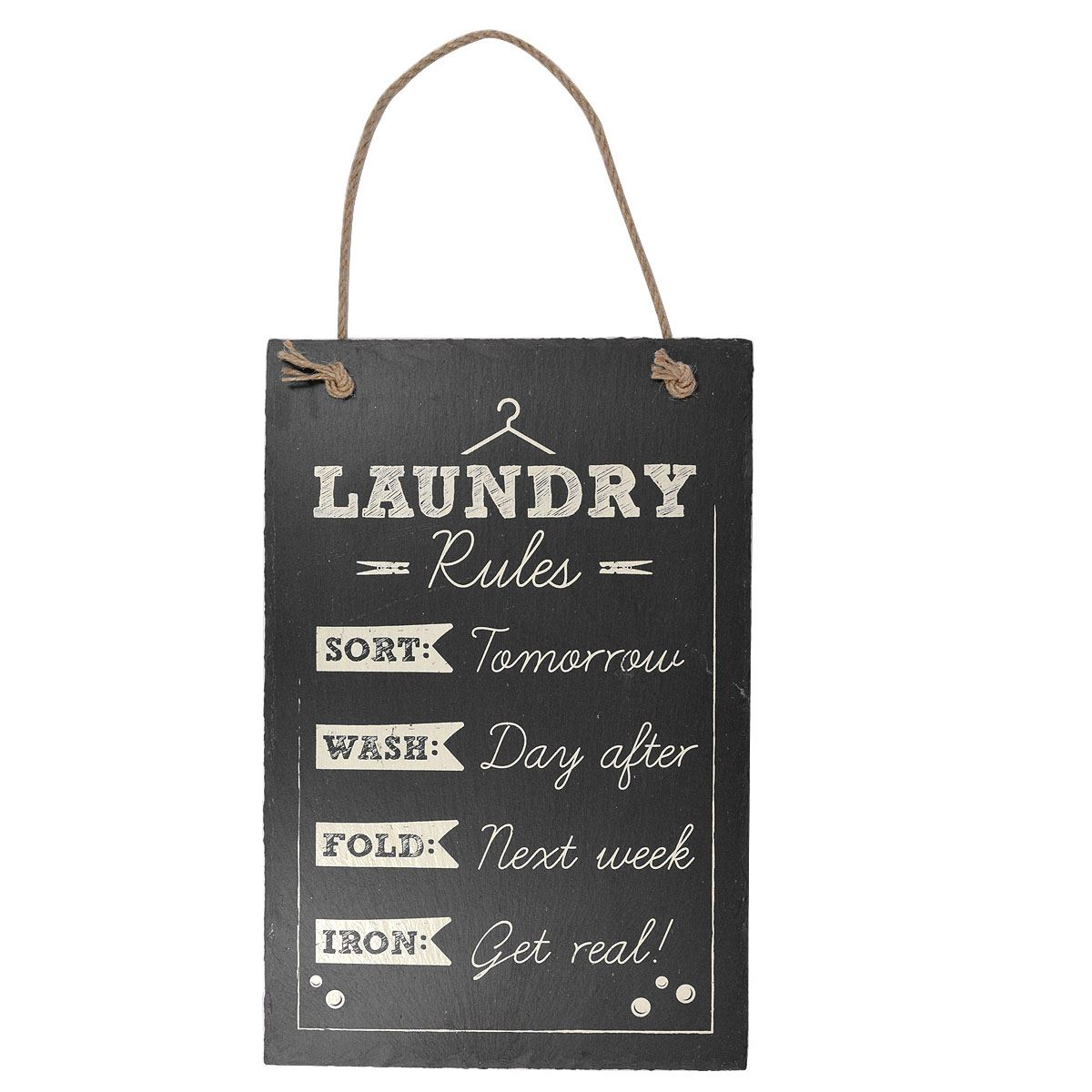 Hanging Slate Plaque Sign Family Bedroom Kitchen Home