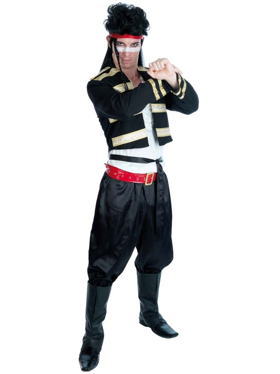 mens adam ant new fancy dress costume 80s pop