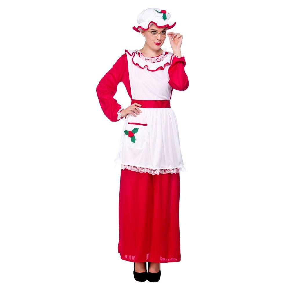 Ladies christmas elf santa claus xmas outfit womens fancy