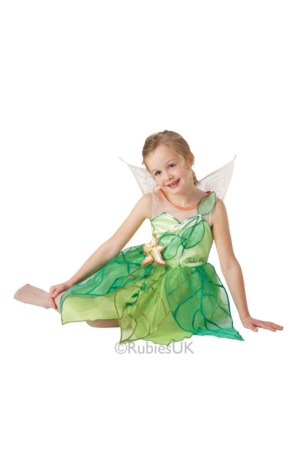 girls tinkerbell disney fairy pixie fancy dress kids. Black Bedroom Furniture Sets. Home Design Ideas