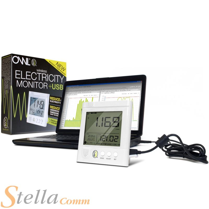 Wireless Home Energy Monitor : Owl cm usb wireless electricity monitor home energy