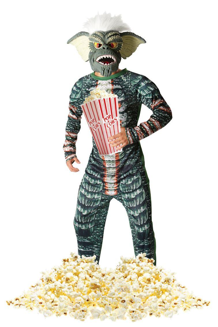 Mens Official Gremlins Costume Halloween Retro 80s Fancy ...