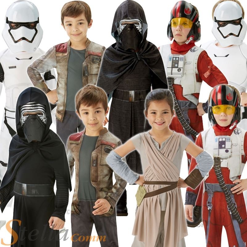 kids star wars costumes force awakens halloween fancy dress boys girls