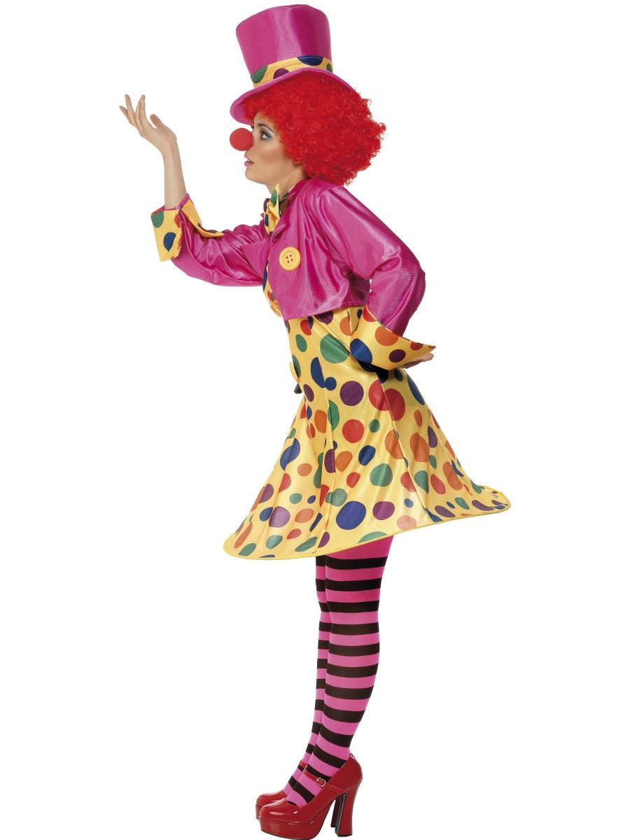 Ladies Clown Lady Circus Fancy Dress Costume Halloween Womens Outfit Size 8-22