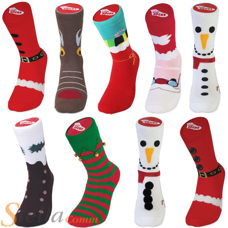 Bluw Cotton Silly Socks Novelty Christmas Unisex Adult ...