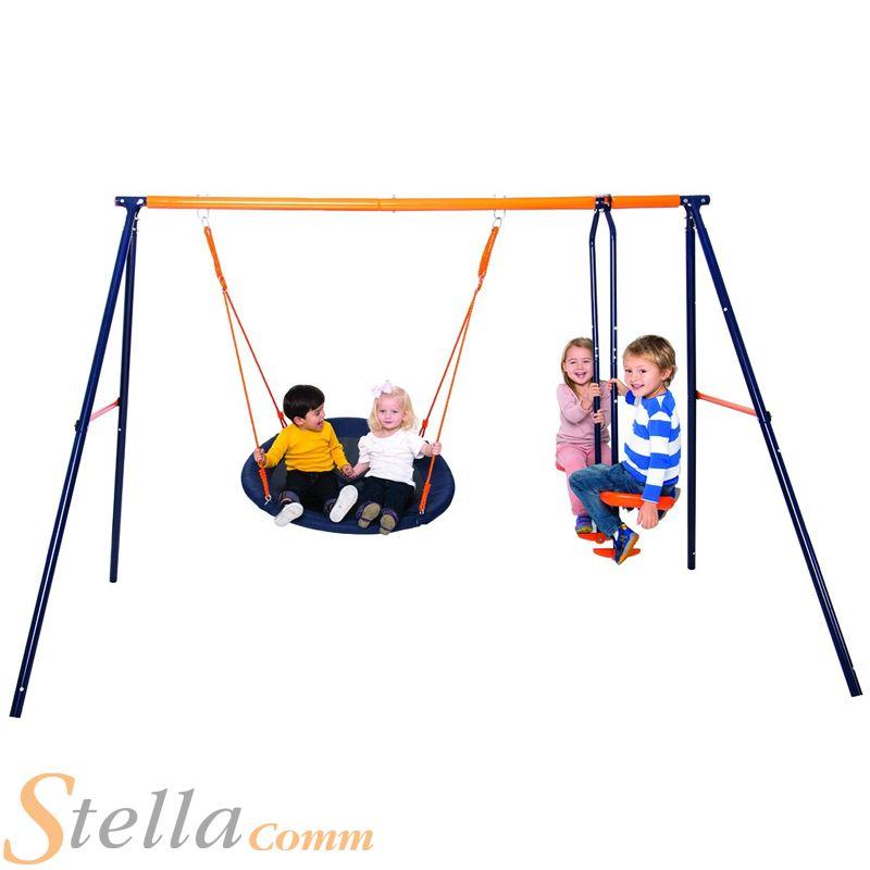 Hedstrom nebula childrens fabric nest swing glider for Nebula fabric uk