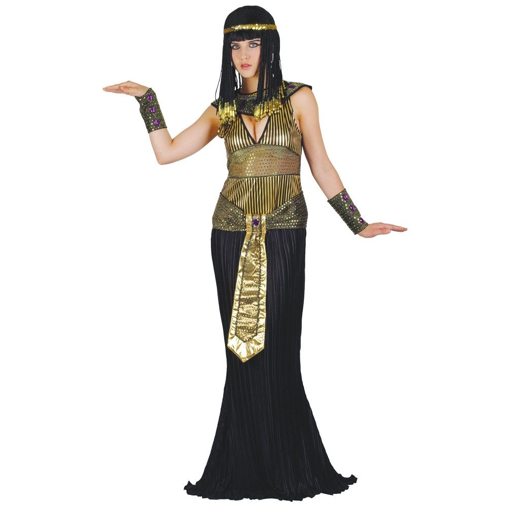 Ladies Queen Cleopatra Egyptian Queen Book Week Fancy Dress Costume Adult Outfit