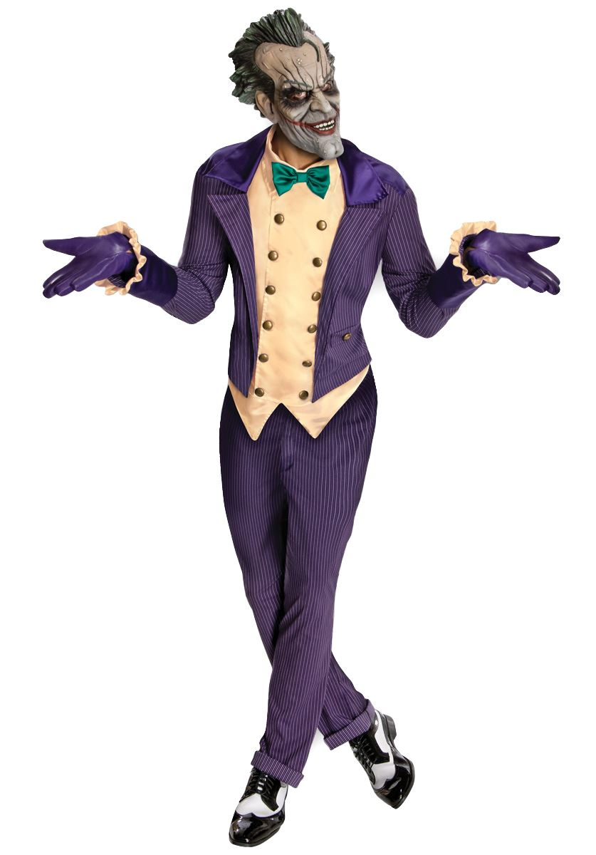 Hommes licesned de luxe joker costume d guisement batman - Halloween adulte ...