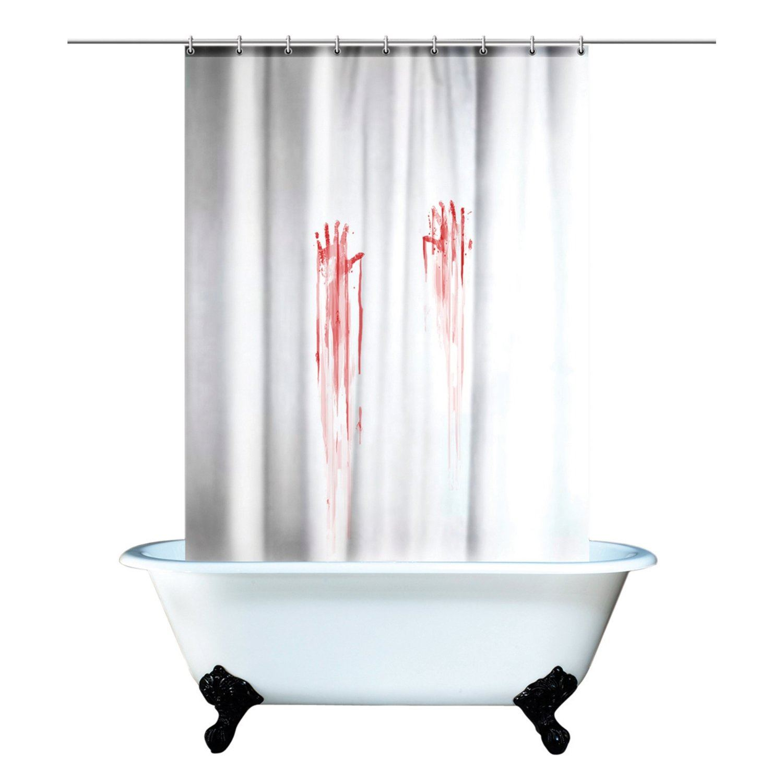 Cortinas De Baño Halloween:Spinning Hat Blood Bath Shower Curtain