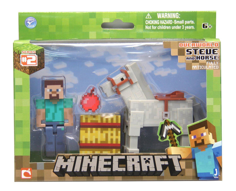 "Minecraft Overworld Steve & Chestnut Horse 3"" Articulated ... - photo#42"