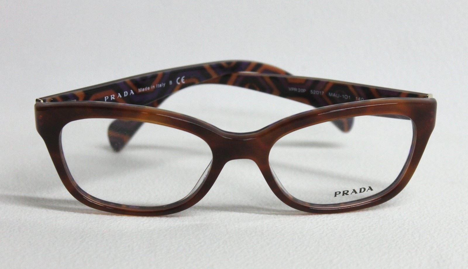 new prada vpr 20p mau 101 s brown wayfarer frame