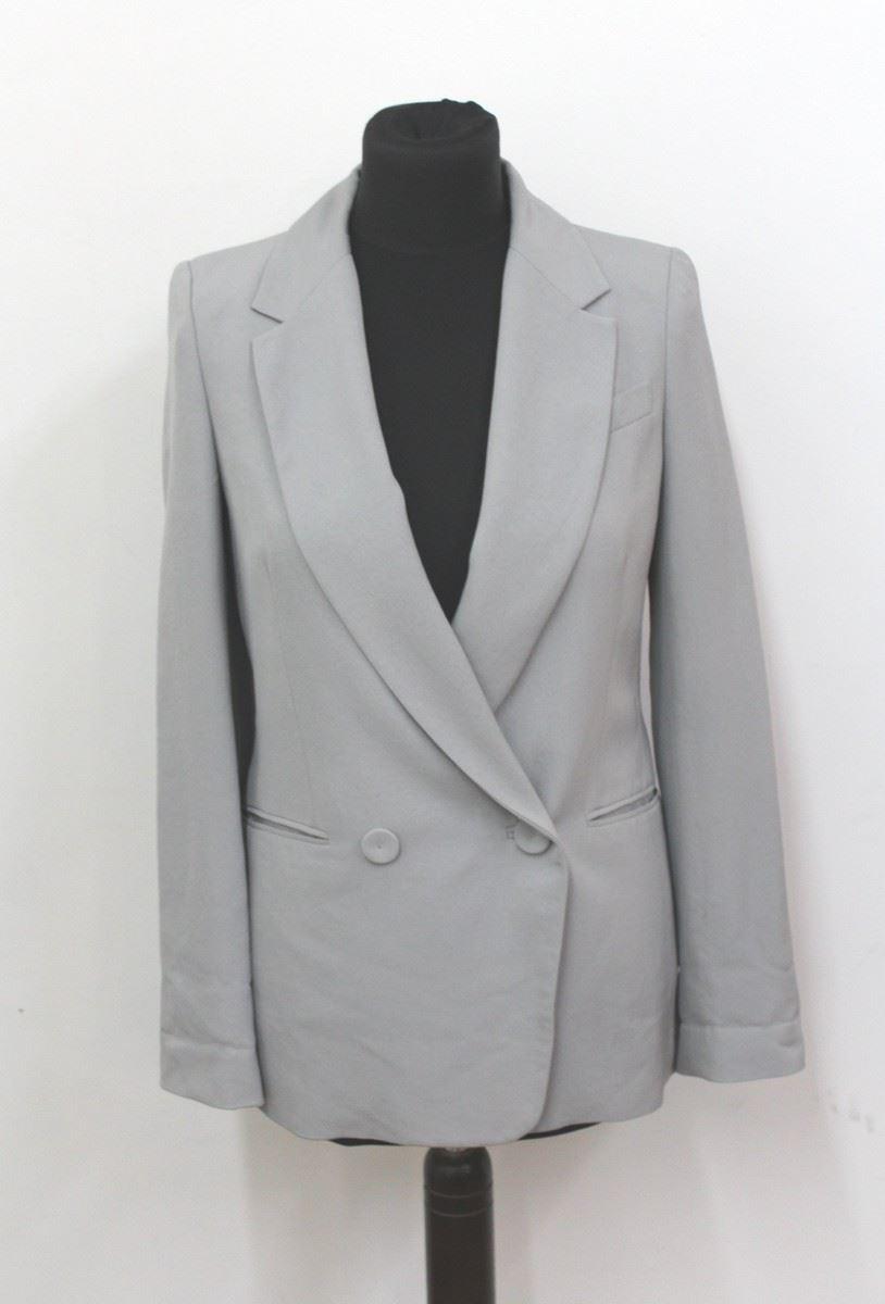 comptoir des cotonniers femme gris double breasted blazer jacket uk8 eu36 ebay. Black Bedroom Furniture Sets. Home Design Ideas