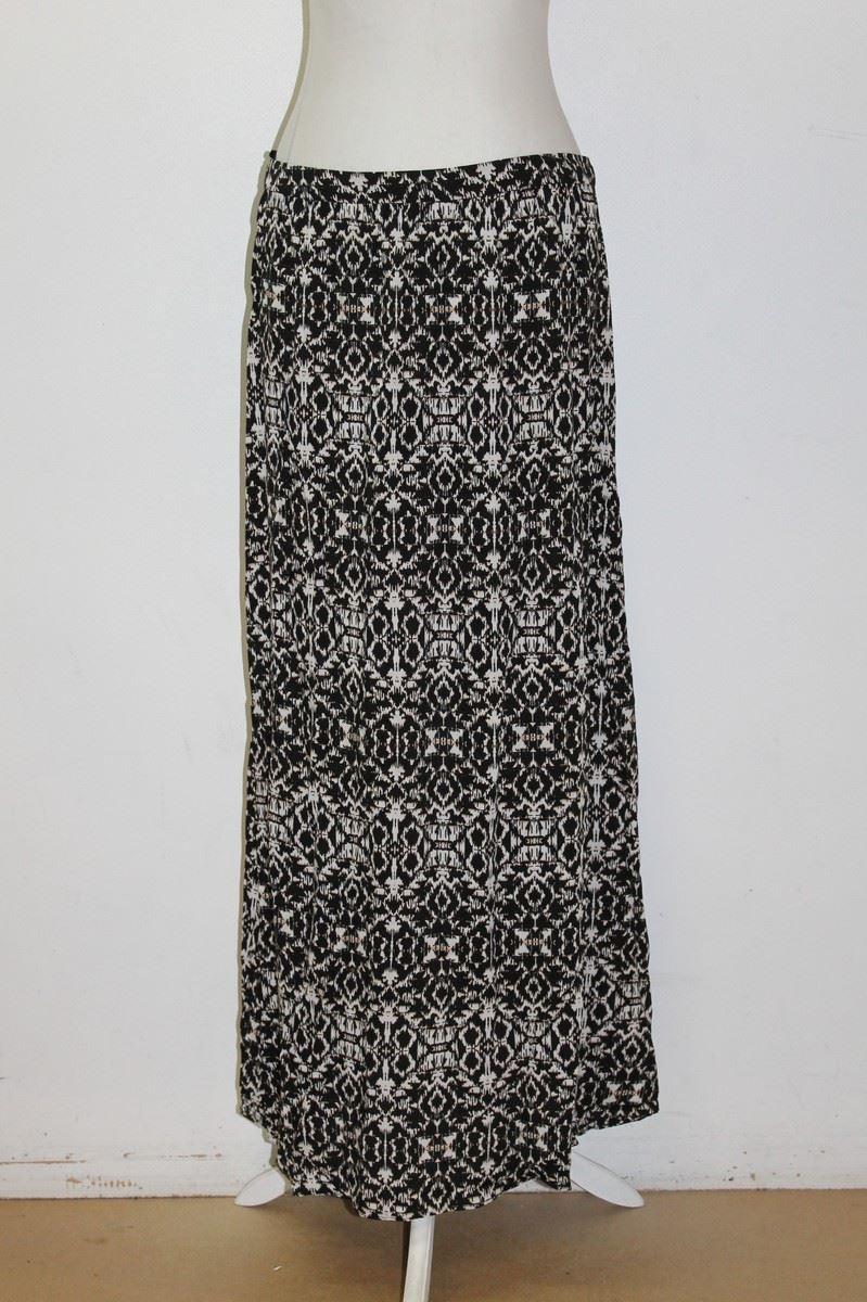 new look black white geometric print length