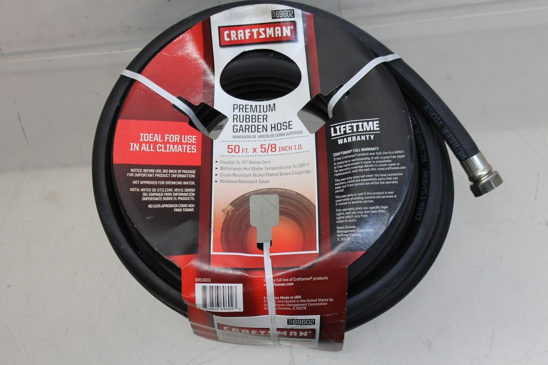 Upc 859826696023 craftsman premium rubber garden hose - Craftsman premium rubber garden hose ...