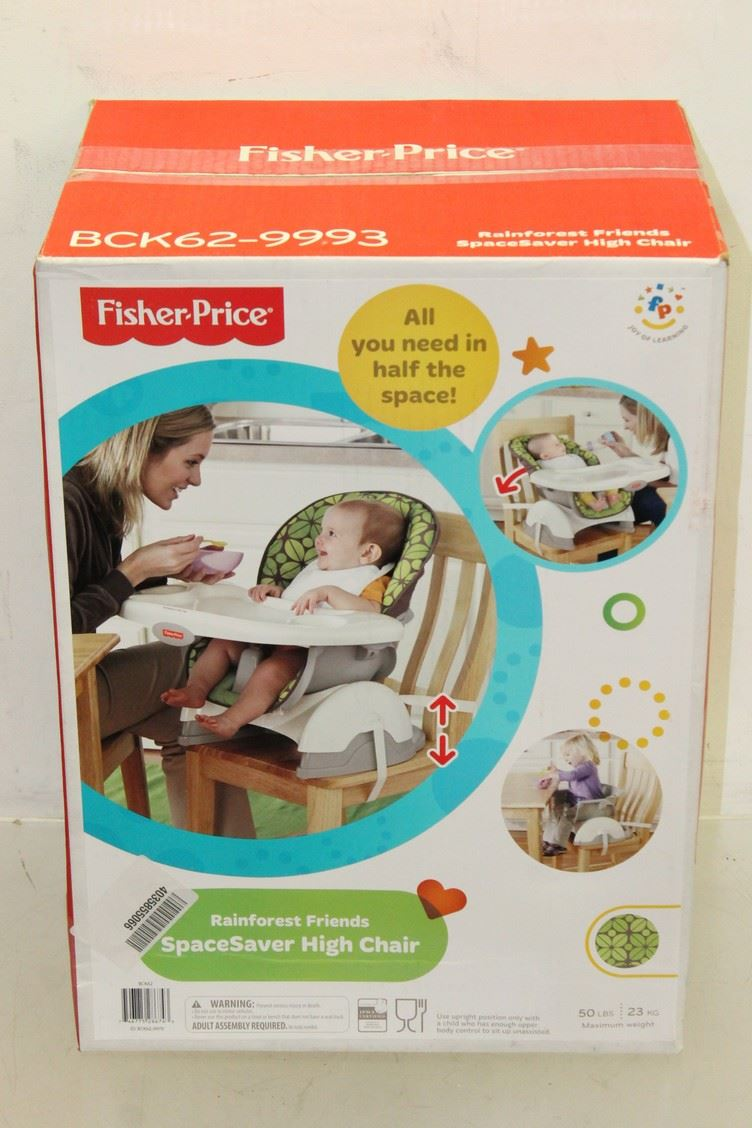 bnib fisher price spacesaver height adjustable high chair