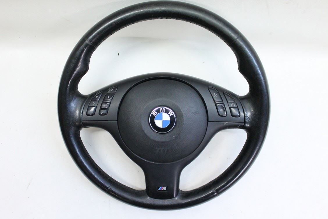 bmw e46 m sport used steering wheel complete black leather. Black Bedroom Furniture Sets. Home Design Ideas