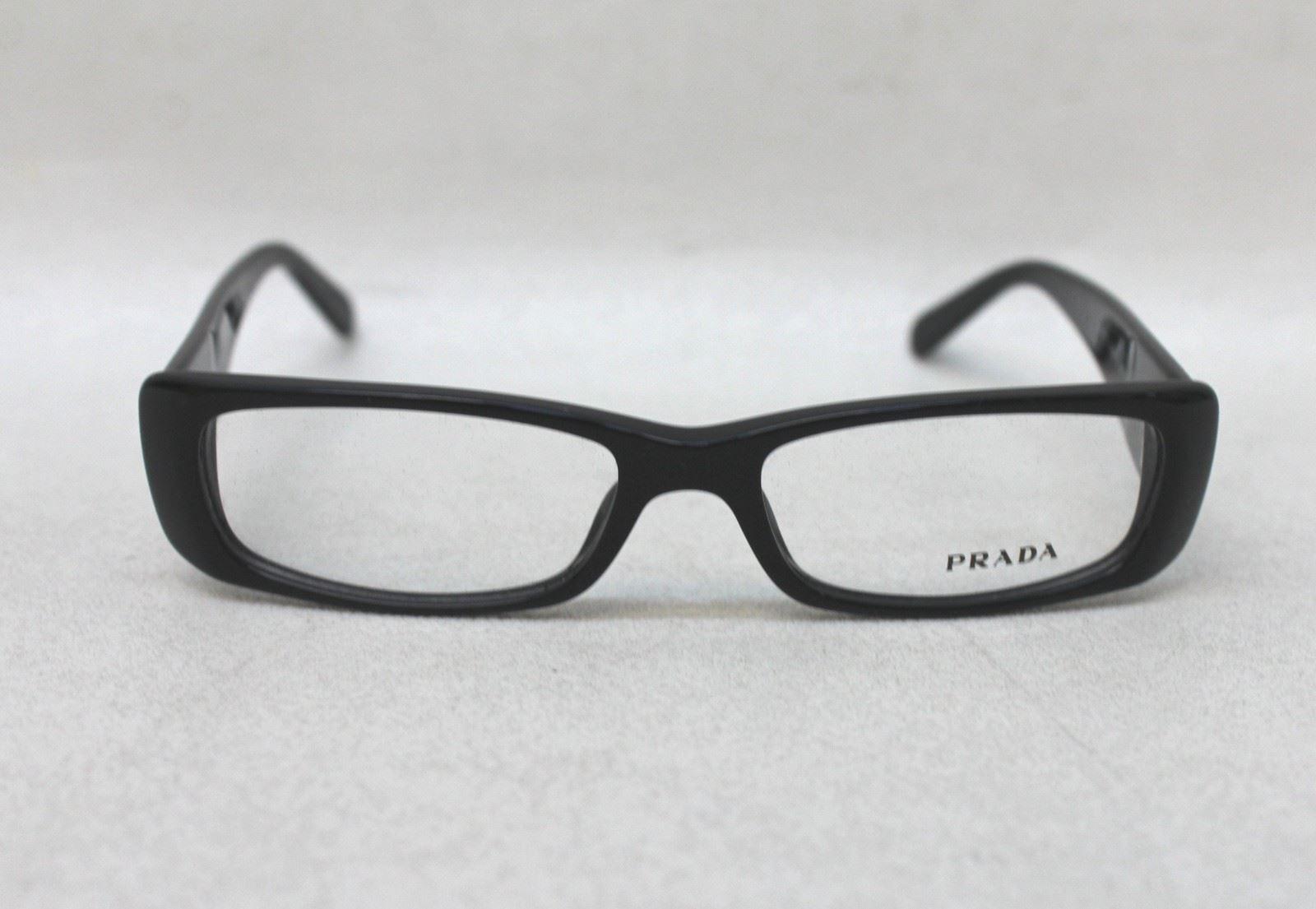 Glasses Narrow Frame : NEW PRADA Ladies Black Narrow Rectangular Frame VPR 17L ...