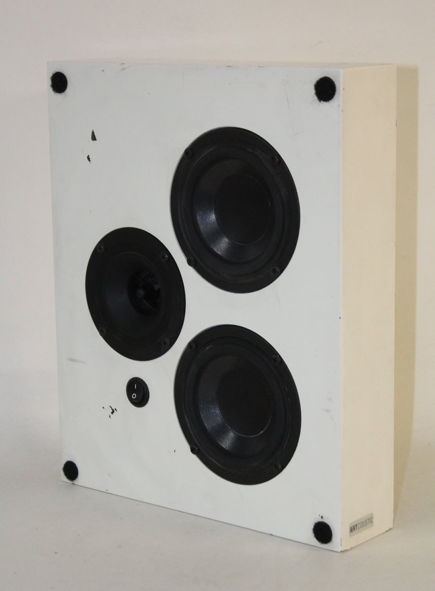 artcoustic diablo 250w low profile wall mounted studio monitor speaker white ebay. Black Bedroom Furniture Sets. Home Design Ideas
