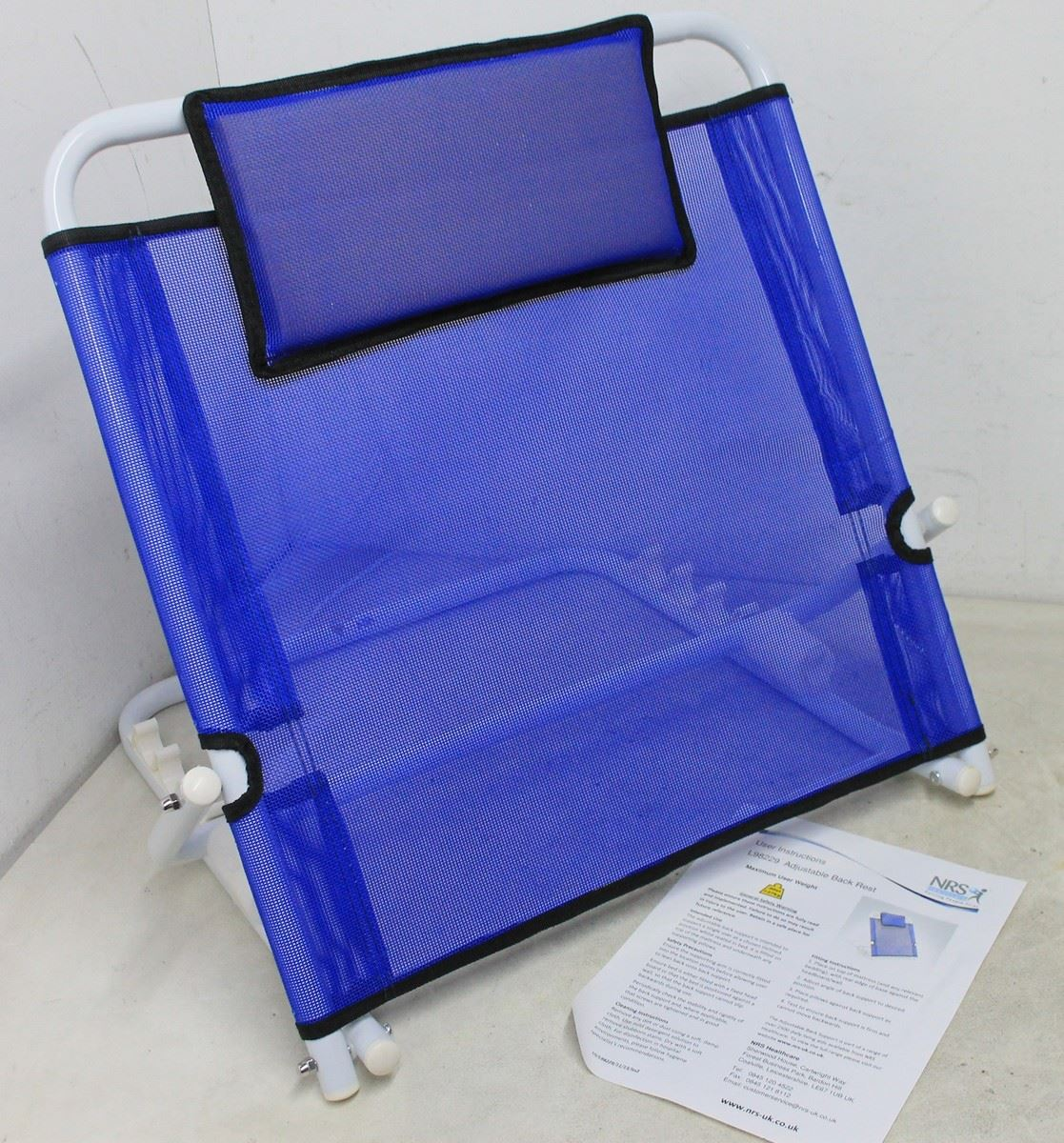Adjustable Backrest Bed Support : Bnib nrs l adjustable back rest angle lumbar support