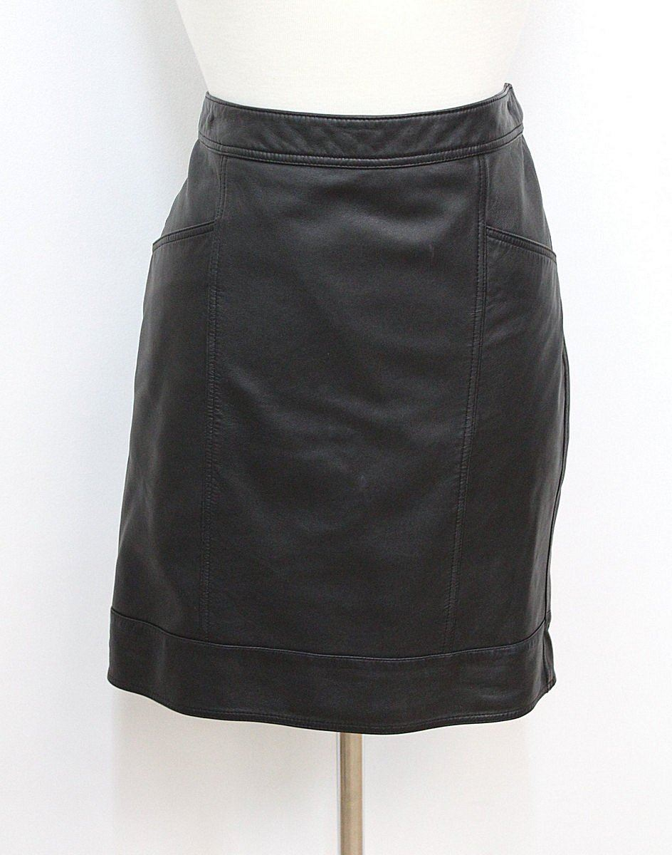 marks spencer autograph black leather high rise