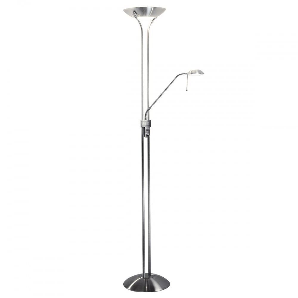 Bnib dar mon4946 banbury montana uplighter 230w satin for Montana uplighter floor lamp black chrome