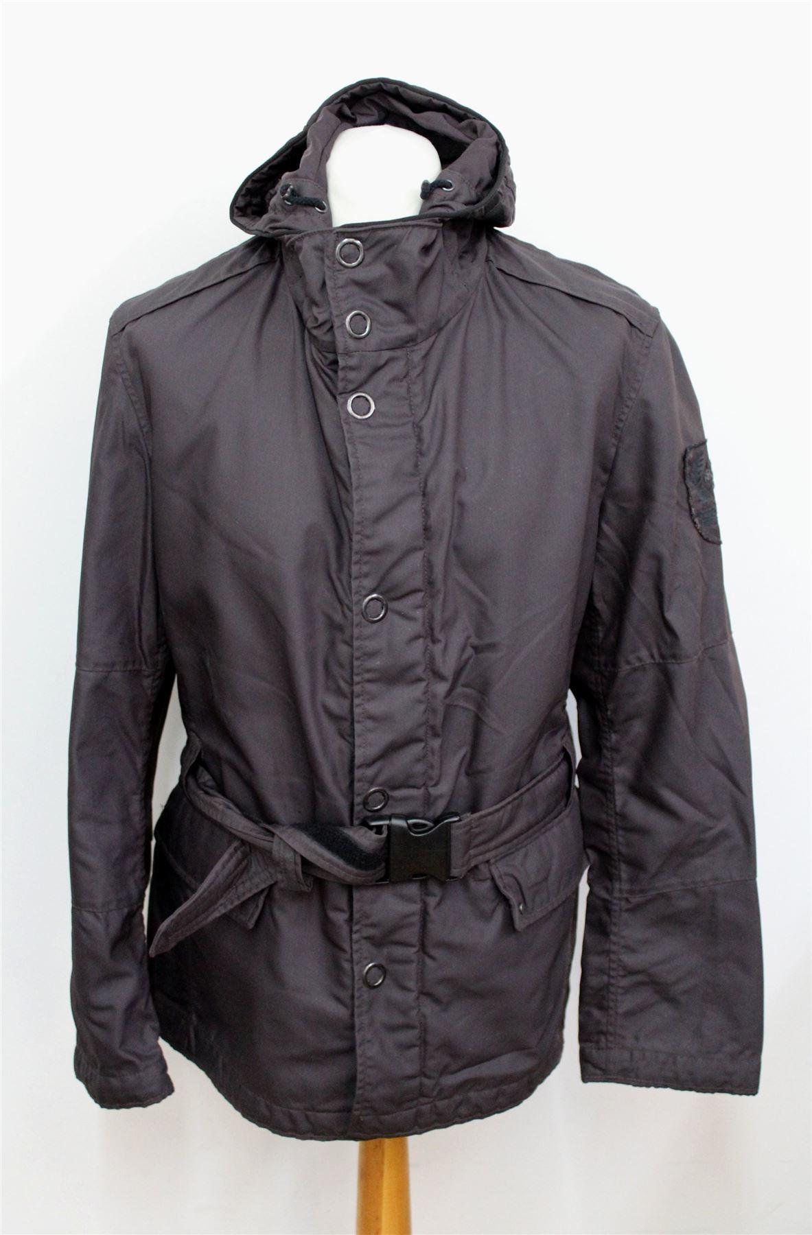 strellson swiss cross men 39 s brown zip front hooded. Black Bedroom Furniture Sets. Home Design Ideas